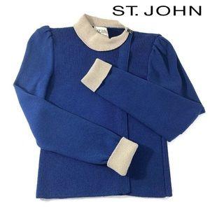 Vtg St. John Collared Sweater Santana Knit